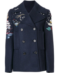 Valentino Double Breasted Embroidered Jacket