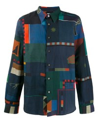 PS Paul Smith Abstract Print Shirt