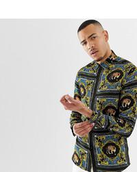ASOS DESIGN Tall Regular Fit Baroque Leopard Print T Print Shirt