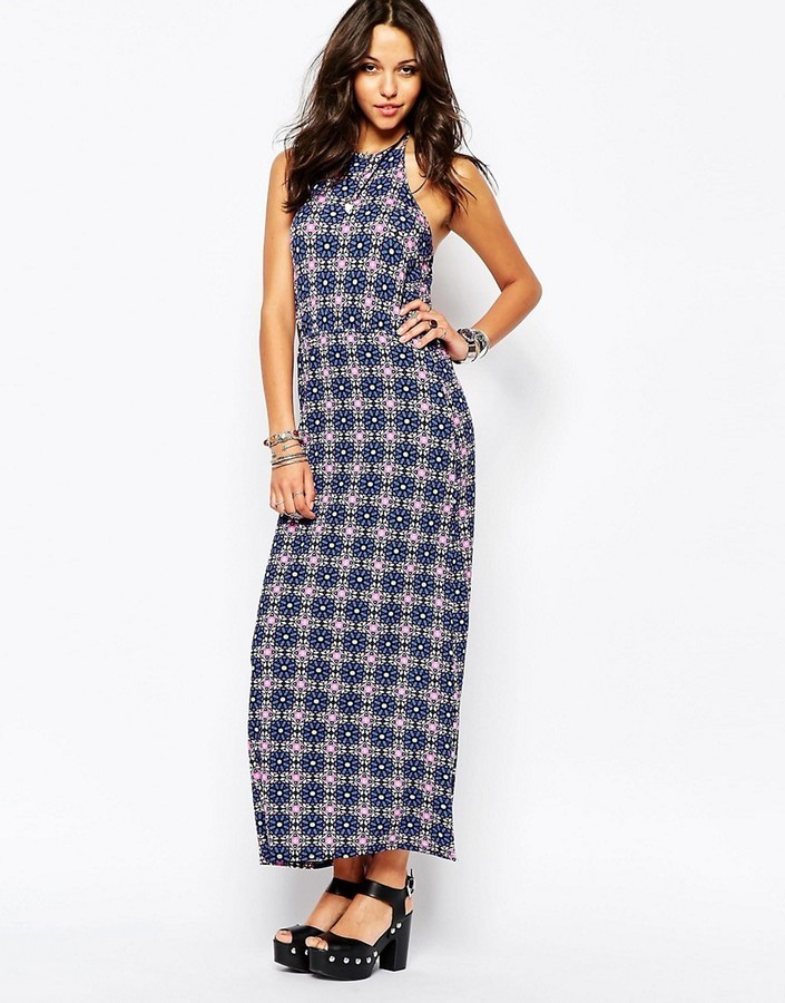 0c657bb2f25 ... Boohoo Tile Print Sleeveless Maxi Dress ...