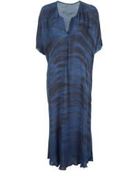 Navy Print Midi Dress