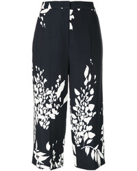 Rochas Floral Print Cropped Trousers