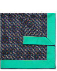 Gucci Logo Print Silk Pocket Square