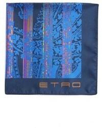 Etro Print Silk Pocket Square
