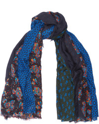 Stella McCartney Printed Wool And Modal Blend Scarf