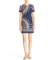 Tory Burch Mariana Print Ponte Shift Dress