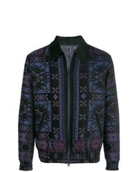Etro Intarsia Pattern Bomber Jacket