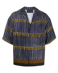 Prada Faded Stripe Print Shirt