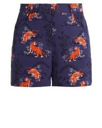 Topshop Tiger Shorts Blue