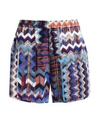 Saint Tropez Zigzag Shorts Blue Deep