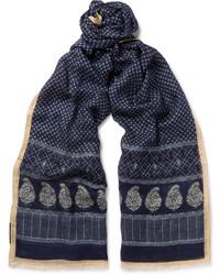 Drakes printed gauze scarf medium 1157199