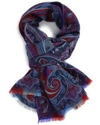 Paisley wool silk scarf medium 92772