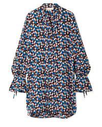 Tory Burch Kaylee Printed Silk Crepe Mini Dress