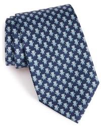 Salvatore Ferragamo Teddy Bear Print Silk Tie