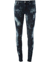 Navy Print Skinny Jeans