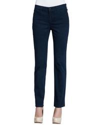Navy Print Skinny Pants