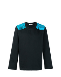 Dima Leu Striped Shoulders Sweatshirt