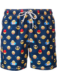 MC2 Saint Barth Emoji Print Swim Shorts