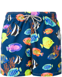 MC2 Saint Barth Fishes Print Swim Shorts