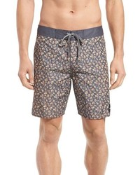 RVCA We Come In Peace Floral Print Swim Trunks