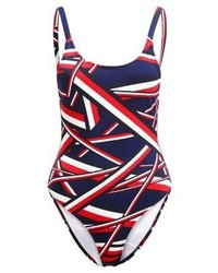 Tommy Hilfiger Iconic High Cut Swimsuit Blue