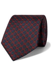 Gucci 75cm Logo Embroidered Silk Jacquard Tie