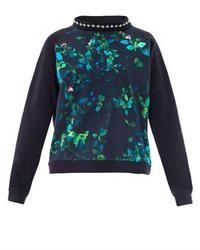 No 21 floral print embellished sweater medium 8288