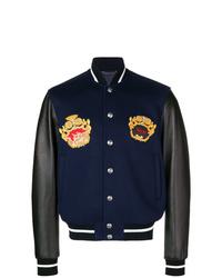 Versace Logo Motif Bomber Jacket