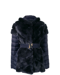 Liska Rabbit Fur Padded Coat