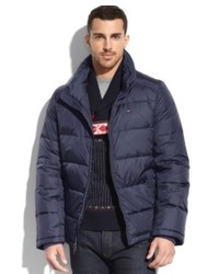 Tommy Hilfiger Coat Contrast Lined Down Puffer Performance Coat