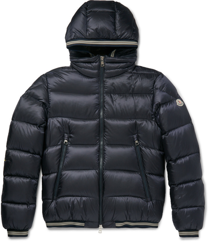 64c23a0fa £946, Moncler Jeanbart Quilted Shell Hooded Down Jacket