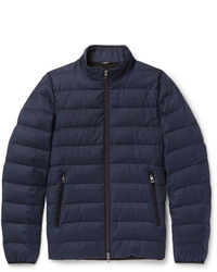 Loro Piana Rain System Wool And Silk Blend Down Jacket