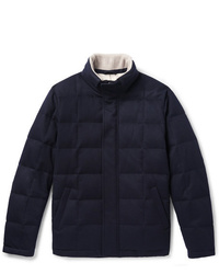 Loro Piana Storm System Quilted Cashmere And Cotton Blend Down Jacket