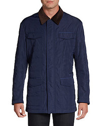 Navy Quilted Barn Jacket