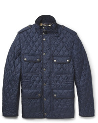 Navy Quilted Field Jacket