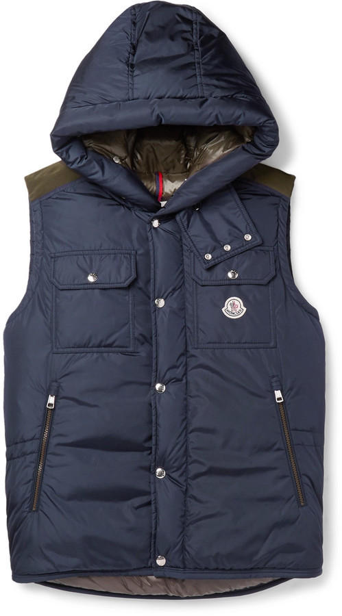 40fd36613 £905, Moncler Anis Quilted Shell Hooded Down Gilet