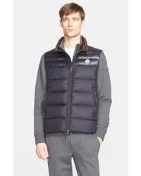Dupres two tone quilted down vest medium 306512