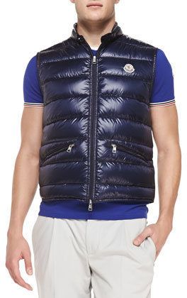 b8334f7cece3 Moncler Gui Quilted Puffer Vest Navy