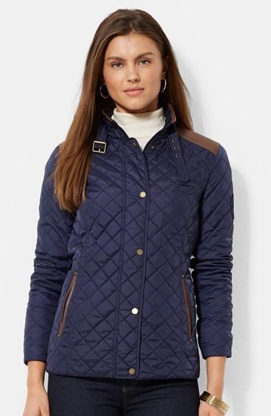 07dce2c0d0c9 Lauren Ralph Lauren Faux Leather Trim Quilted Jacket, £159 ...