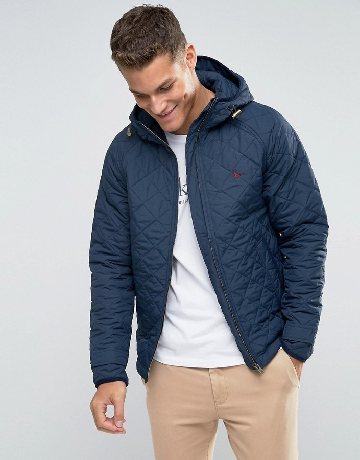 outlet online 100% quality best sale Quilted Jacket In Navy