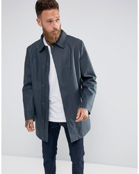 Hunter Rubberised Coat In Navy