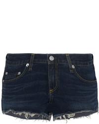 Cut off denim shorts dark denim medium 464164