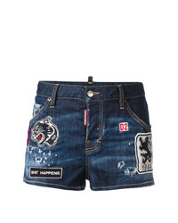 Dsquared2 Patched Denim Shorts