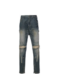 Julius Distressed Straight Jeans