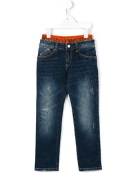 Armani Junior Ripped Detail Jeans
