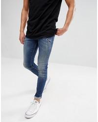 Just Junkies Max Slim Fit Jeans In Mid Wash