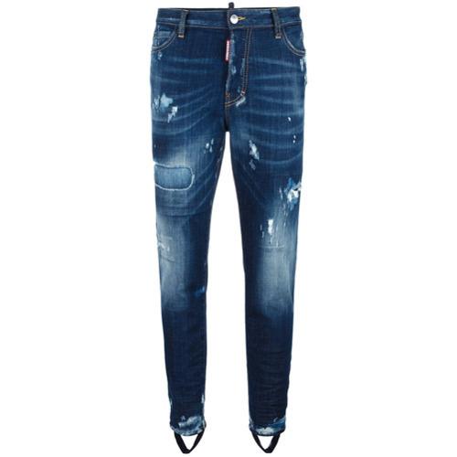 Dsquared2 Ski Gaiter Bleached Jeans