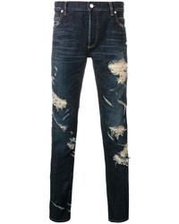 Balmain Slim Cut Ripped Jeans