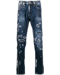 Philipp Plein Studs Milano Cut Jeans
