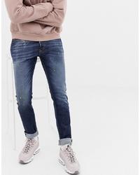 Diesel Tepphar Skinny Fit Jeans In 087at Dark Wash